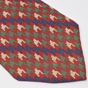 Tommy Hilfiger Silk Neck Tie Double Pattern Crest